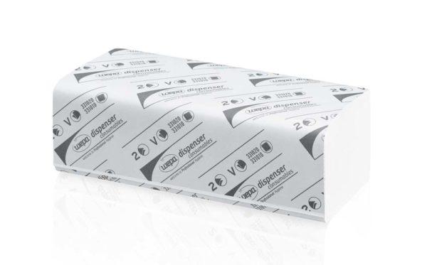 Бумажные полотенца WEPA, Z-сложения, 2 слоя 150 листов