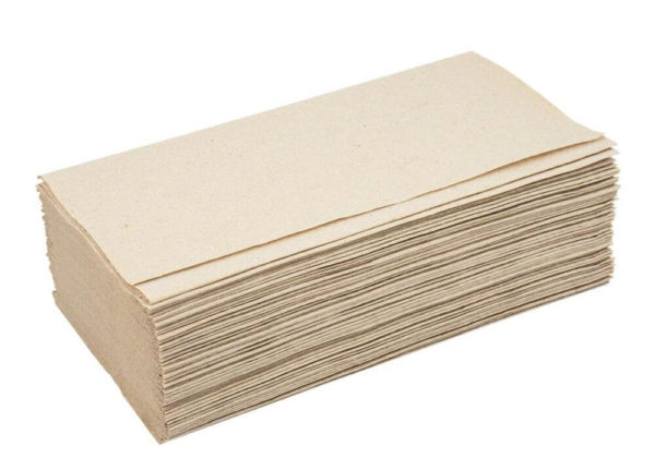 Бумажные полотенца, V-сложение, 1 слой, 160 листов, серые