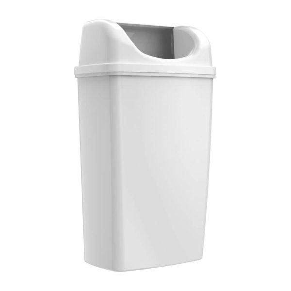 Корзина для мусора, 50 литров, с крышкой, белая