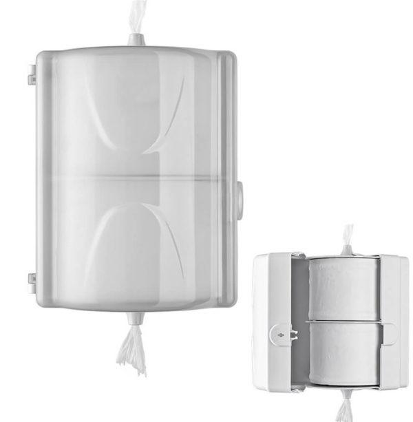 Держатель для туалетной бумаги на два рулона, арт.1311white