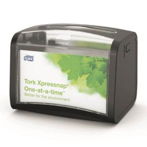 Диспенсер для бумажных салфеток, настольный, черный, TORK