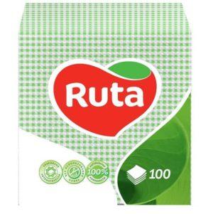 Бумажные салфетки, столовые, 100 шт. в пачке, 24×24 см, зеленые