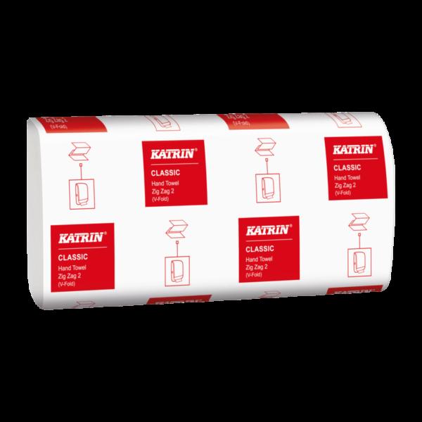 Бумажные полотенца KATRIN, V сложение, 2 слоя, 2000 листов, 35298