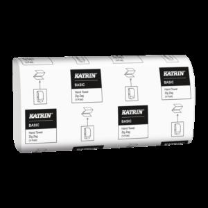 Бумажные полотенца KATRIN 76957, V сложение, 2 слоя, 150 листов