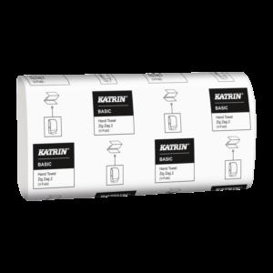 Бумажные полотенца KATRIN, V сложение, 1 слой, 250 листов