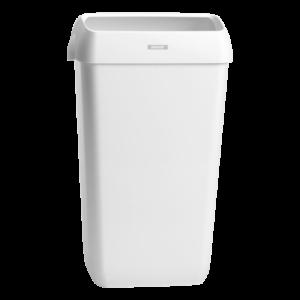 Корзина для мусора, 25 литров, с крышкой, белая
