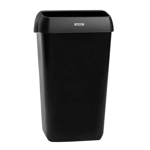 Корзина для мусора, 25 литров, с крышкой, черная