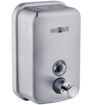 Металлический дозатор жидкого мыла NOFER, арт.03001.S