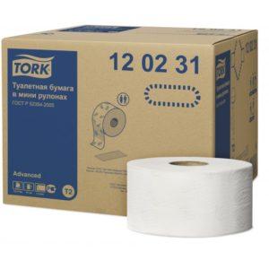 Туалетная бумага TORK Джамбо, 2 слоя, 170 метров