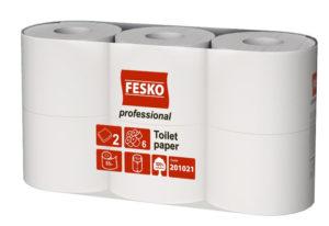 Туалетная бумага FESKO в стандартных рулонах Professional S