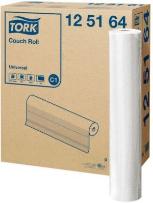 Бумажные одноразовые простыни в рулоне TORK, 1 слой